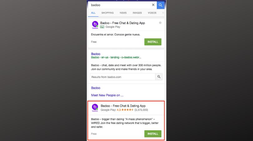 Mobile App SEO Single Snippet
